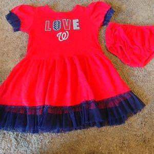 **Bundle 4/$15** Toddler girls Nationals dress